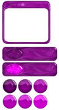 Violet and Fuchsia Graphic Elements Royalty Free Stock Photo