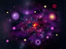 Violet galaxy. Solar galaxy. Violet background Royalty Free Stock Photography