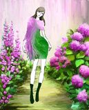 Violet Garden Fashion illustrazione di stock