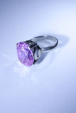 Violet gemstone ring Stock Photography