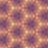 Violet Geometric Pattern bege. Imagem de Stock Royalty Free