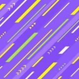 Violet geometric seamless pattern Stock Image