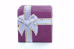 Violet gift box Royalty Free Stock Image