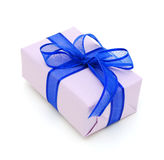 Violet gift box Royalty Free Stock Photo