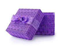 Violet gift box Stock Image