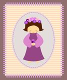 Violet girl Stock Image
