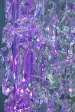 violet glass crystals Royalty Free Stock Image