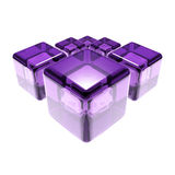 Violet glass cubes isolated Royalty Free Stock Images