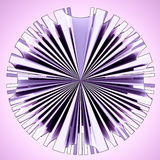 Violet glassy star shape circle composition Royalty Free Stock Image