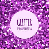 Violet glitter seamless pattern Royalty Free Stock Photos