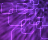 Violet Glowing Squares Abstract Background Royalty Free Stock Photography