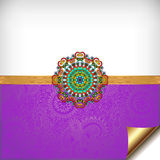 Violet greeting card for indian festival sisters Royalty Free Stock Photography