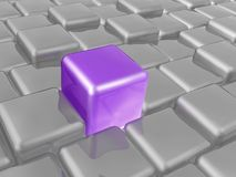 Violet and grey cubes. As abstract background, 3D illustration Vector Illustration