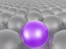 Violet and grey spheres. As abstract background, 3D illustration royalty free illustration