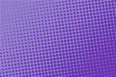 Violet halftone pattern. Digital gradient. Abstract futuristic panel for web sites, banner in pop-art style, comic book. Textured backdrop with dots, points royalty free illustration