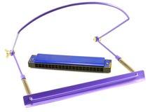 Violet harmonica Stock Photo
