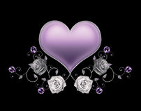 Violet heart Stock Photography