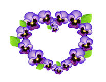 Violet heart  Royalty Free Stock Image