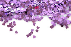 Violet hearts Stock Photo