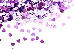 Violet hearts Royalty Free Stock Photography