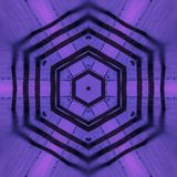 Violet hexagon abstract concentric artwork kaleidoscope wallpaper stock illustration