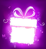 Violet holiday design with white place for your text. Royalty Free Stock Photography