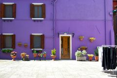 Violet House in Venedig Stockfotos