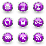 Violet icons set Stock Photo
