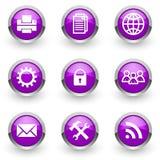 Violet icons set Stock Photo