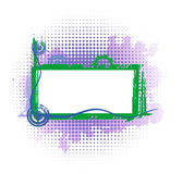 Violet industrial frame Stock Photos