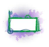 Violet industrieel frame Stock Foto's