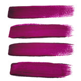 Violet ink  brush strokes Royalty Free Stock Photos