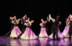 The violet-Israeli folk dance-the Austria's world Dance Royalty Free Stock Photo
