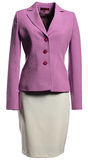 Violet jacket and light skirt Royalty Free Stock Images