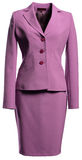 Violet jacket and skirt Royalty Free Stock Images