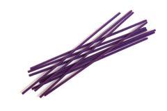 Violet joss sticks Stock Photography