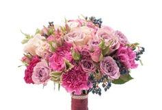 Violet kleurrijk geïsoleerd huwelijksboeket Royalty-vrije Stock Foto