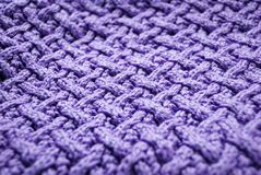 Violet knitted Stock Photos