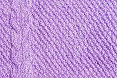 Violet knitted background Royalty Free Stock Photo