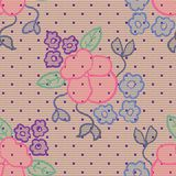 Violet lace vector fabric seamless pattern Stock Photography