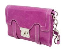 Violet ladies handbag Royalty Free Stock Photo