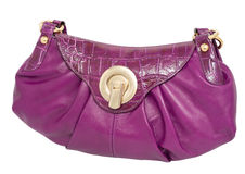 Violet ladies handbag Royalty Free Stock Photos