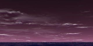 Violet landscape. Violet sky and violet ocean Royalty Free Stock Image
