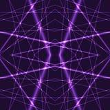 Violet Laser Beams Seamless Background Photos libres de droits