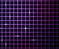 Violet Laser Light Grid Background Stock Images