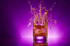 violet ' last splash ' Obraz Stock