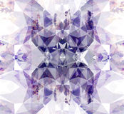 Violet lavender abstraction, composed of triangles, different shades. Stock Photos