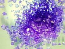 Violet lavender bath salt Royalty Free Stock Photo