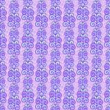 Violet leaf striped pattern. Violet seamless floral leaf pattern texture background royalty free illustration