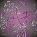 Violet leafs. Pattern witch leafs in violet Stock Photos